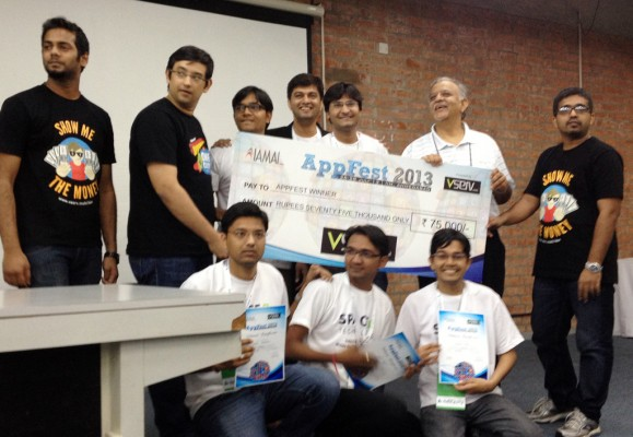 Space-O Being Awarded For Winning Hackathon